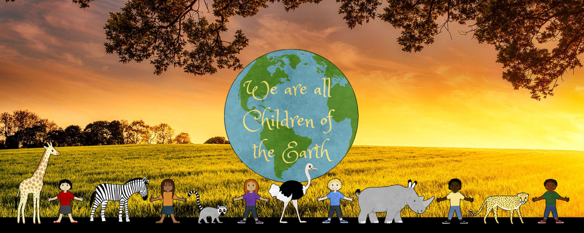 We are all Children of the Earth Banner